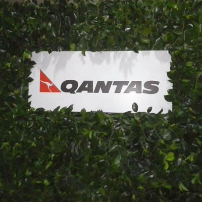 green media wall qantas